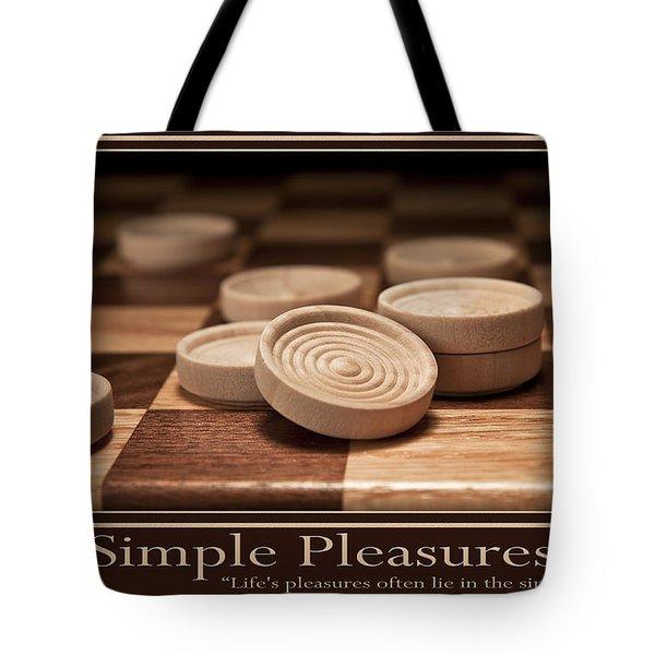 Simple Pleasures Poster Tote Bag by Tom Mc Nemar