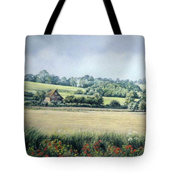 Tote Bag featuring the painting Simple Pleasures by Rosemary Colyer