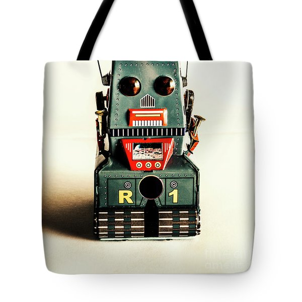 Simple Robot From 1960 Tote Bag
