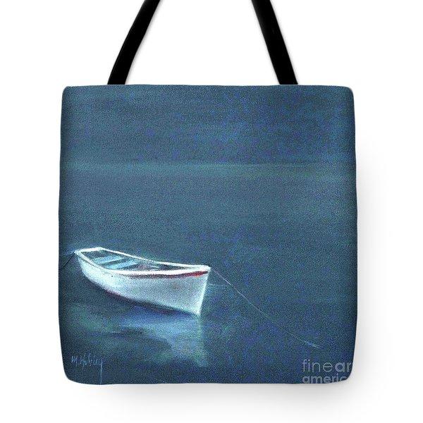 Simple Serenity - Lone Boat Tote Bag