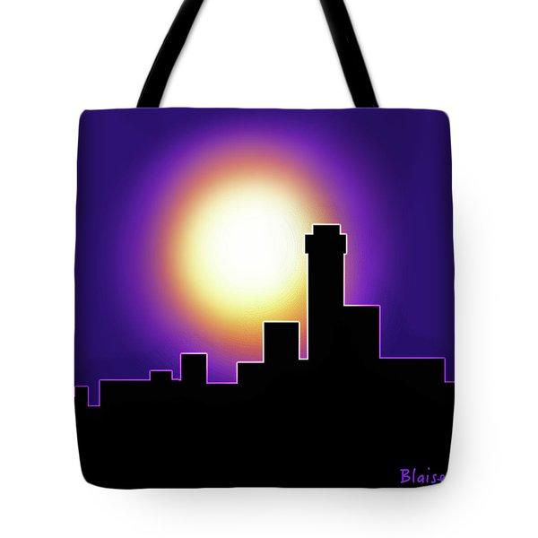 Simple Skyline Silhouette Tote Bag by Yvonne Blasy