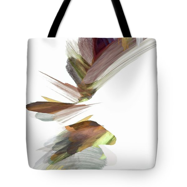 Tote Bag featuring the digital art Simple Strokes by Margie Chapman