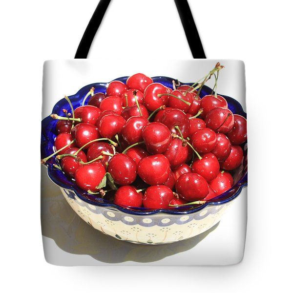 Simply A Bowl Of Cherries Tote Bag by Carol Groenen