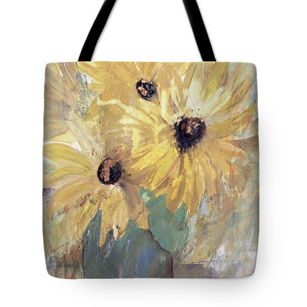 Tote Bag featuring the painting Simply Sunflowers  by Robin Maria Pedrero