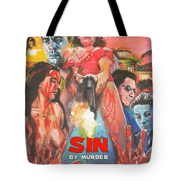 Sin By Murder Poster B Tote Bag