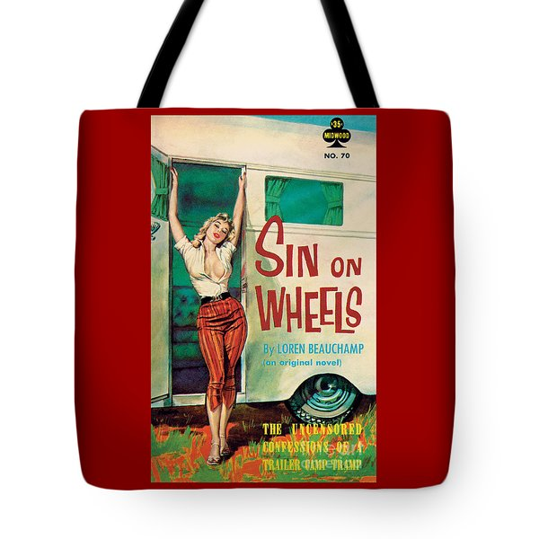 Sin On Wheels Tote Bag