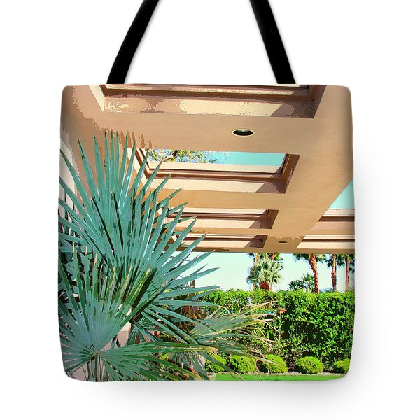 Sinatra Patio Palm Springs Tote Bag by William Dey