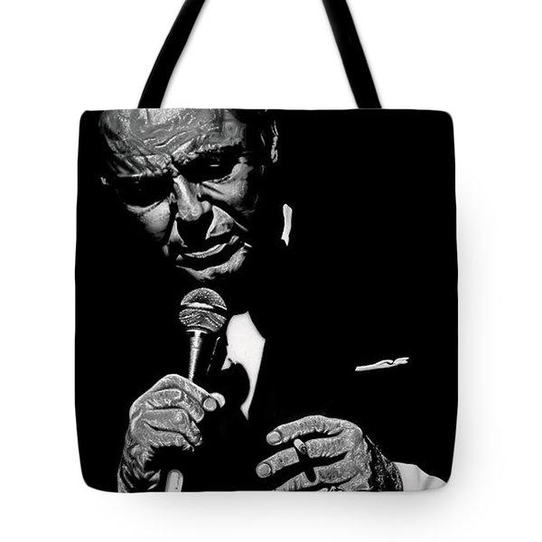 Sinatra Wout Sig Tote Bag by Dan Menta