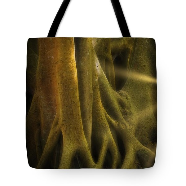 Tote Bag featuring the photograph Sinews by Richard Goldman