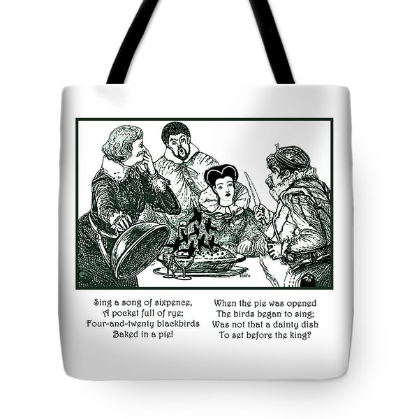 Sing A Song Of Sixpence Nursery Rhyme Tote Bag by Marian Cates