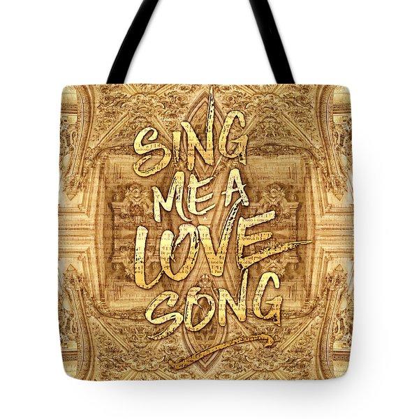 Sing Me A Love Song Opera Garnier Antique Sheet Music Tote Bag