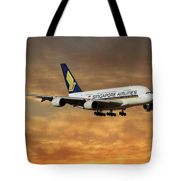 Singapore Airlines Airbus A380-841 2 Tote Bag