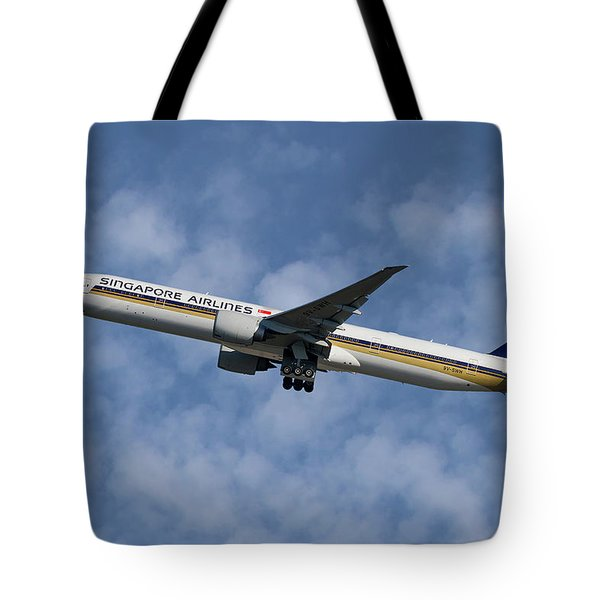 Singapore Airlines Boeing 777-312 1 Tote Bag