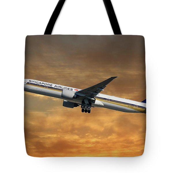 Singapore Airlines Boeing 777-312 2 Tote Bag