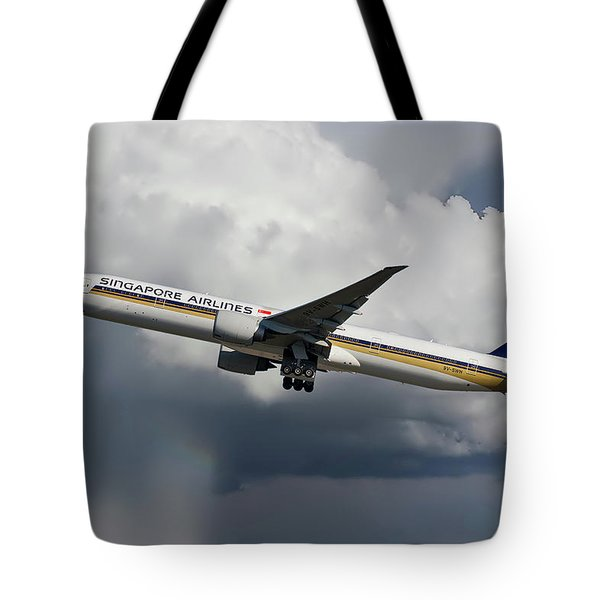 Singapore Airlines Boeing 777-312 Tote Bag