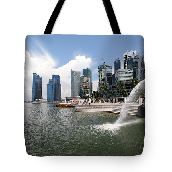 Singapore Tote Bag by Charuhas Images