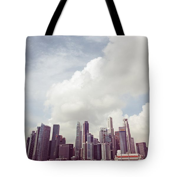 Tote Bag featuring the photograph Singapore Cityscape by Joseph Westrupp