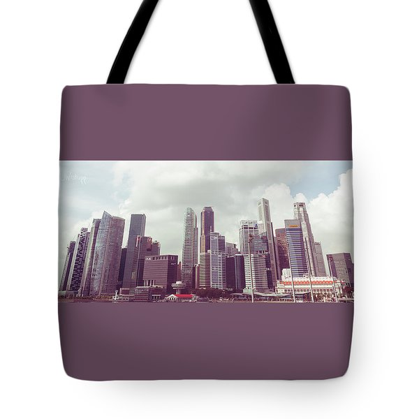 Singapore Cityscape The Second Tote Bag by Joseph Westrupp