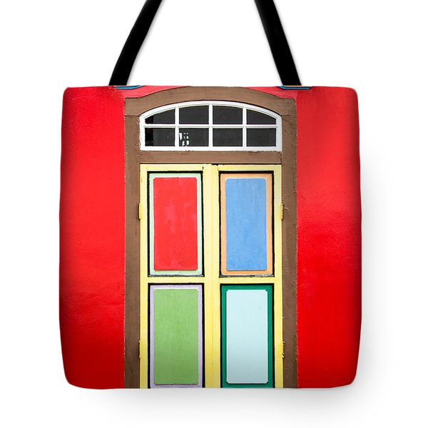 Singapore Red Window Tote Bag