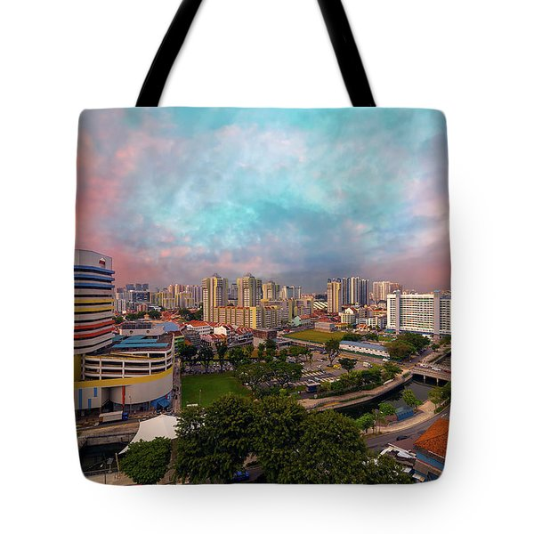 Singapore Rochor Commercial And Residential Mixed Area Tote Bag by David Gn