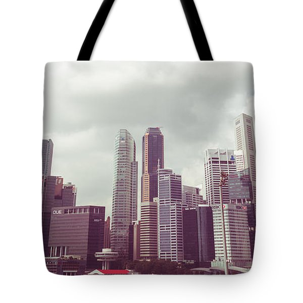 Tote Bag featuring the photograph Singaport Cityscape The Second by Joseph Westrupp