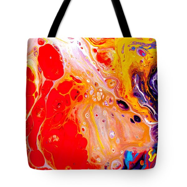 Singer - Colorful Abstract Painting Tote Bag