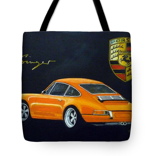 Tote Bag featuring the painting Singer Porsche by Richard Le Page