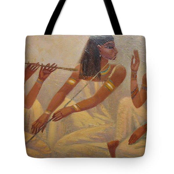 Singers Of Pharaoh Tote Bag