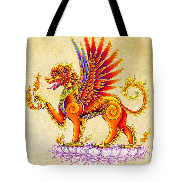 Singha Winged Lion Tote Bag