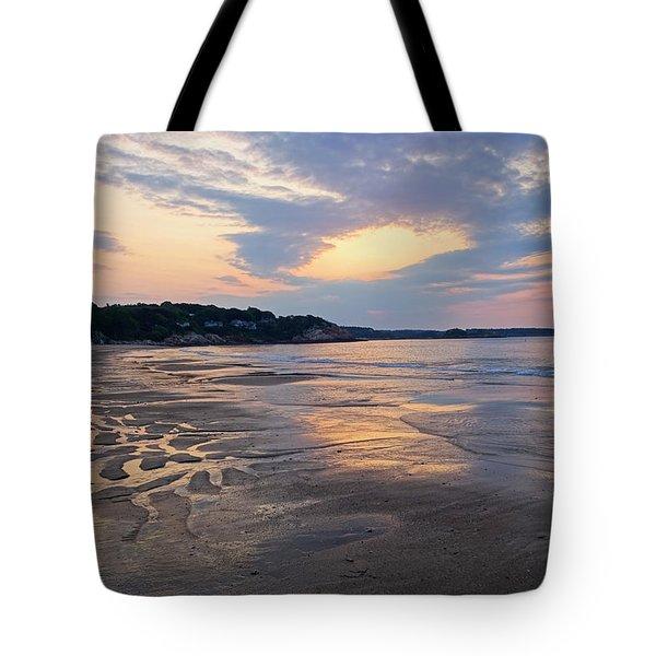 Singing Beach Sandy Beach Manchester By The Sea Ma Sunrise Tote Bag