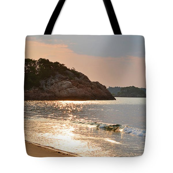 Singing Beach Silver Waves Manchester By The Sea Ma Tote Bag
