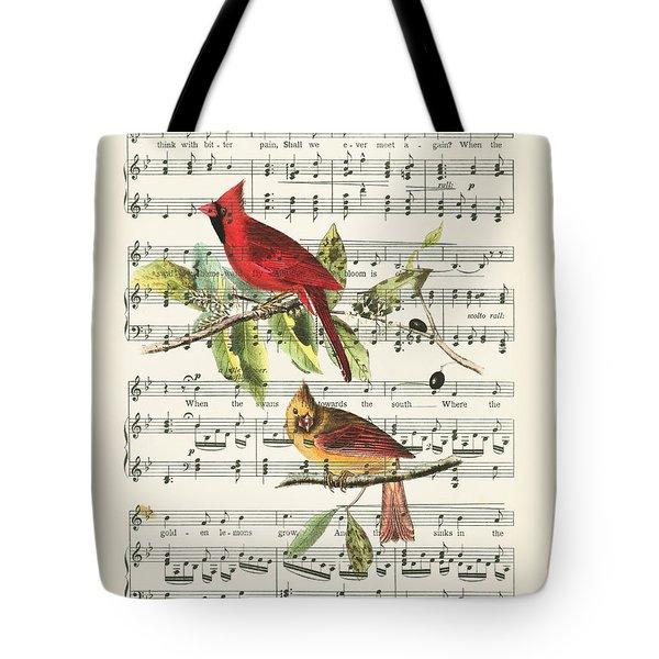 Singing Cardinals Tote Bag