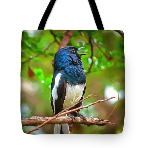 Singing Ceylonese Robin-magpie Tote Bag