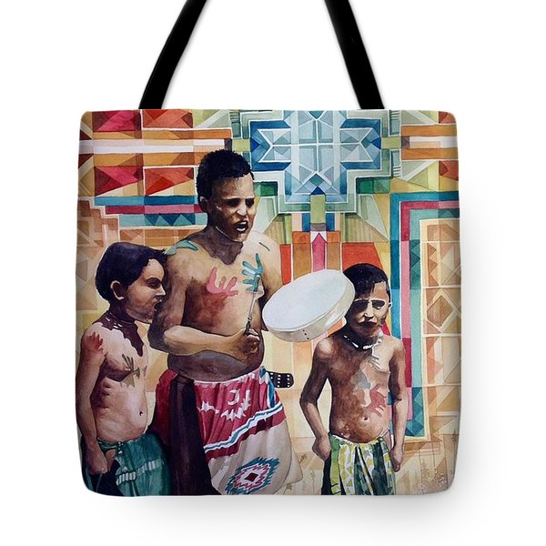 Singing Collins Brothers, Pretty Eagle Academy Tote Bag by Lance Wurst