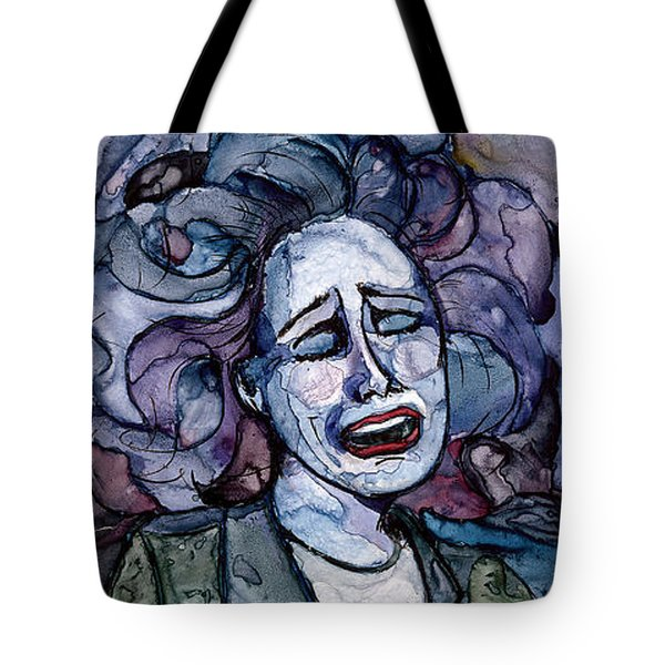 Singing Lady-blues Tote Bag