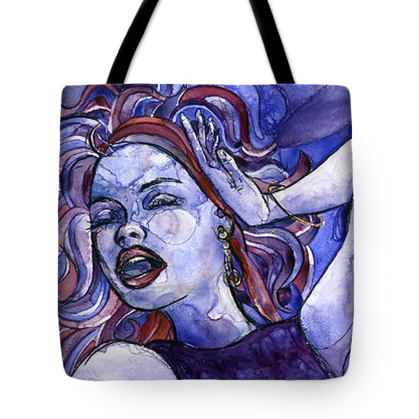 Singing Lady- Jazz Tote Bag
