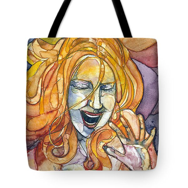 Singing Lady-orange Tote Bag