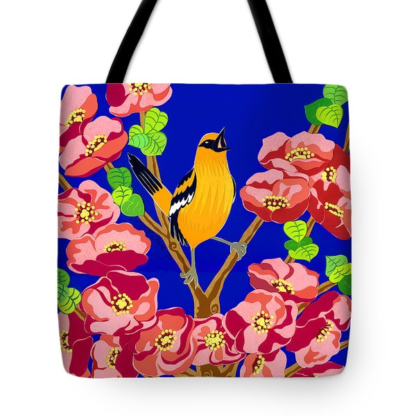 Singing Oriole Tote Bag by Lucyna A M Green