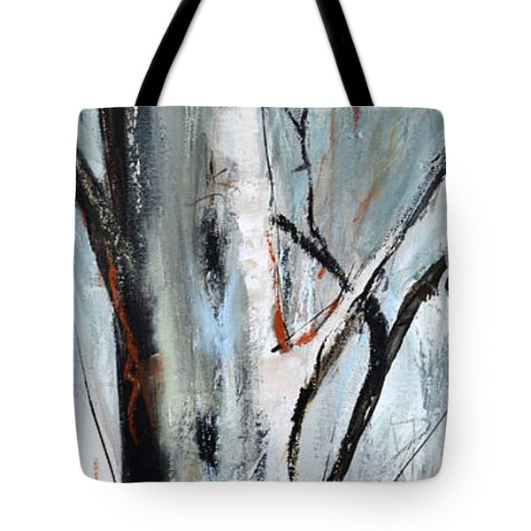 Tote Bag featuring the painting Single Aspen by Cher Devereaux
