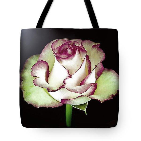 Single Beautiful Rose Tote Bag