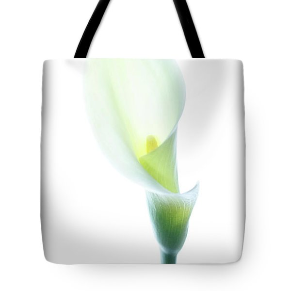 Tote Bag featuring the photograph Single Cala Color by Rebecca Cozart
