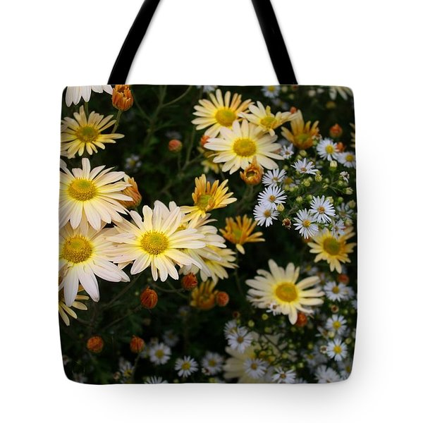 Tote Bag featuring the photograph Single Chrysanthemums by Kathryn Meyer