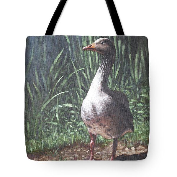 Single Goose Tote Bag by Martin Davey