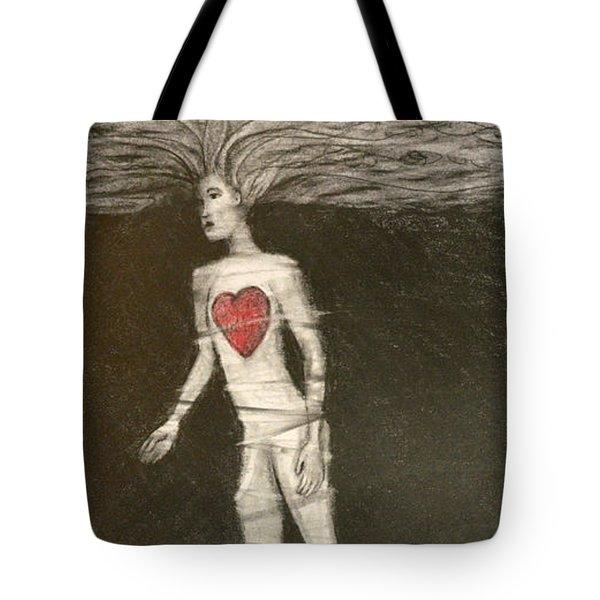 Single Heart Tote Bag