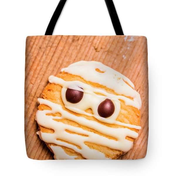 Single Homemade Mummy Cookie For Halloween Tote Bag