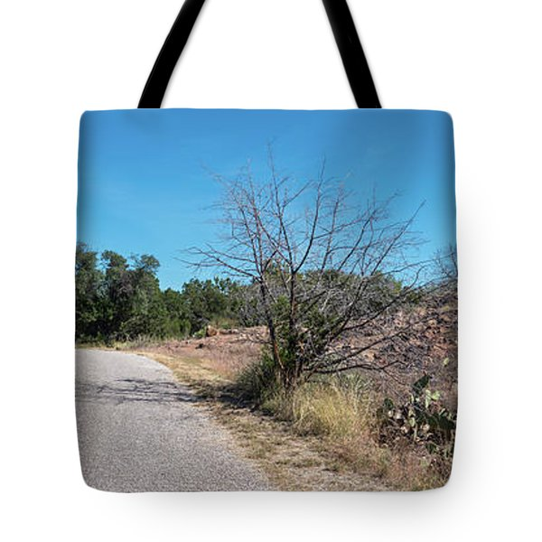 Single Lane Road In The Hill Country Tote Bag