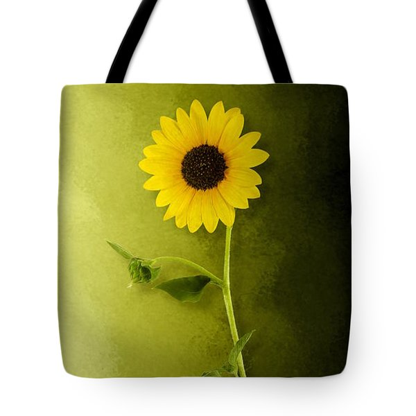 Single Long Stem Sunflower Tote Bag