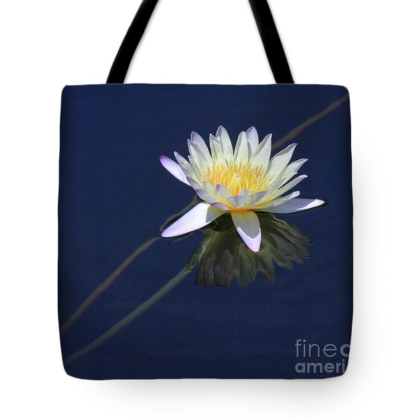 Single Lotus Tote Bag
