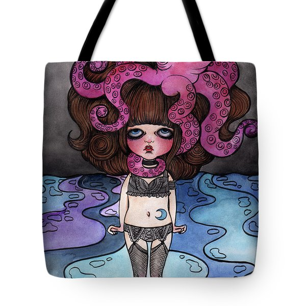 Single Night With The Octopus Tote Bag