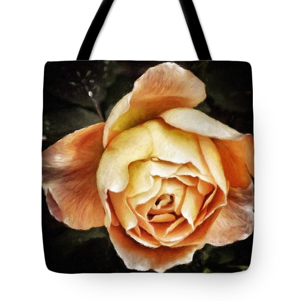 Single Orange Rose  Tote Bag